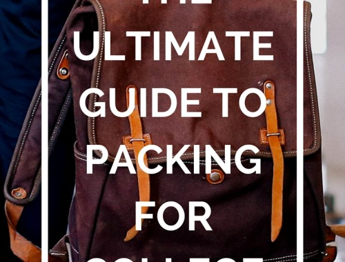 The ultimate guide to packing for college - how to pack and what to bring (and not to bring!).