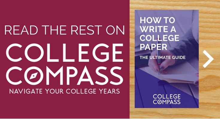 the ultimate guide to writing a college paper sara laughed  the rest on college compass