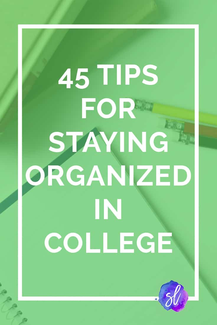 The best tips I've ever seen for getting organized in college! Definitely saving this!