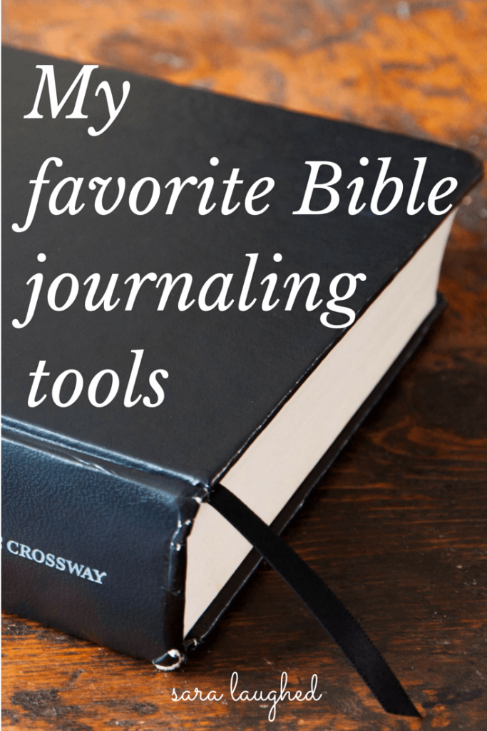 My Favorite Bible Journaling Supplies and Resources - Sara Laughed