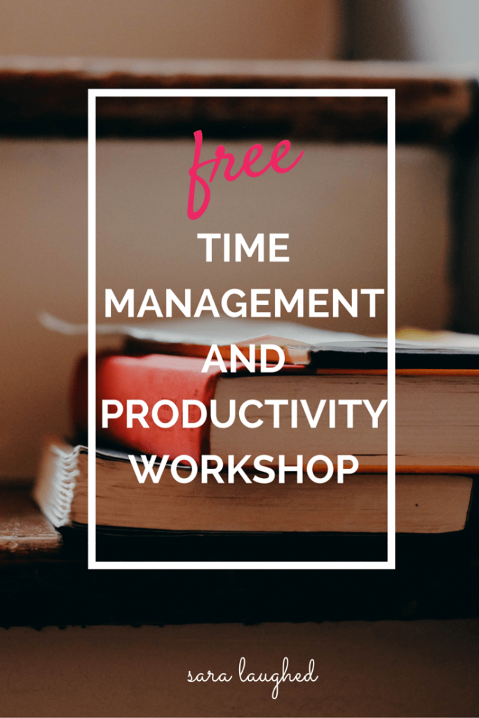 Free online time management and productivity workshop for college students!