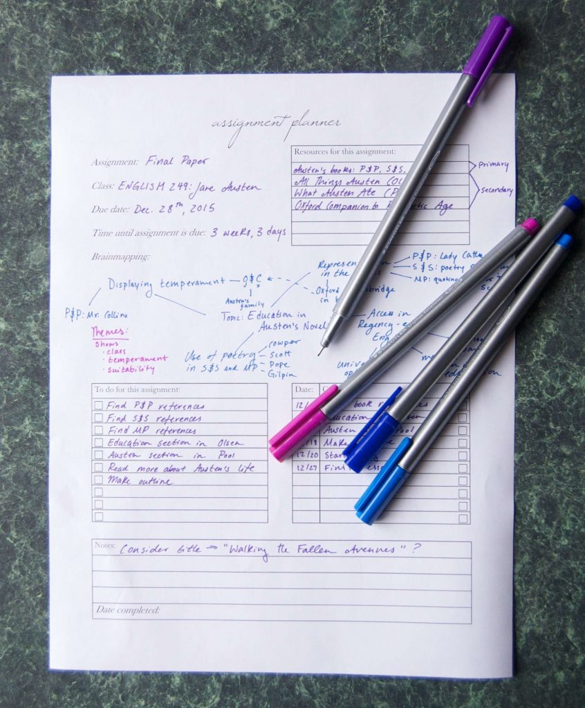 How to use an assignment planner + a free printable! - Sara Laughed