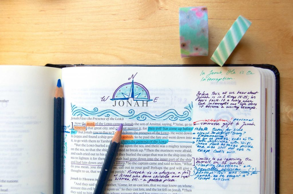 Bible journaling headers