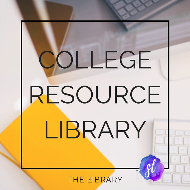 College Resource Library - The L4ibrary by Sara Laughed