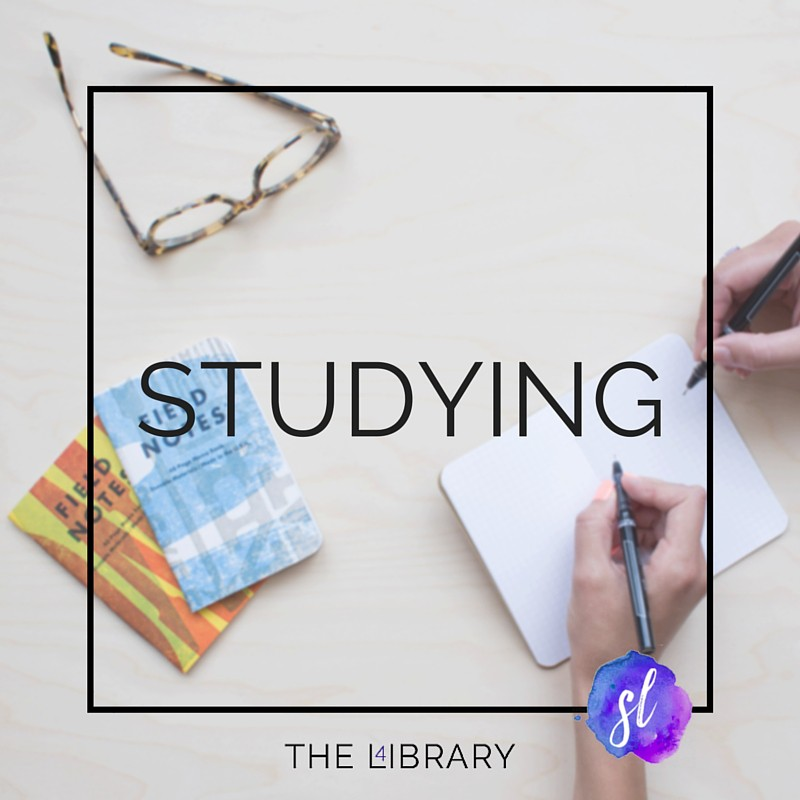 Studying - The L4ibrary by Sara Laughed