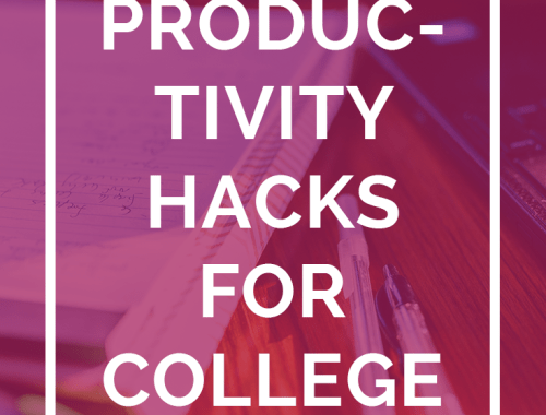 Staying productive in college is HARD, but if you can do it, you'll get better grades, more free time, and less stress in the end. Check out these 14 productivity hacks for college students by everyone from college bloggers to startup CEO's. Save now and click through to read the full article!