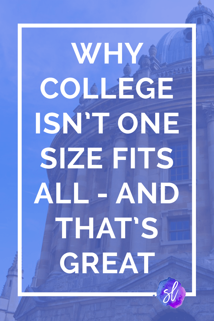 Let's give up on the myth. College isn't the same for everyone, and that's a good thing! Read here to find out why.