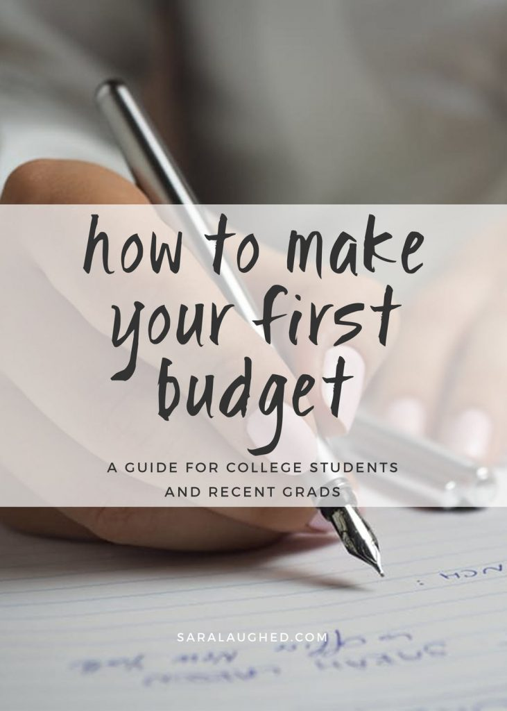 How to Make Your First Budget: A Guide for Students and Recent Grads