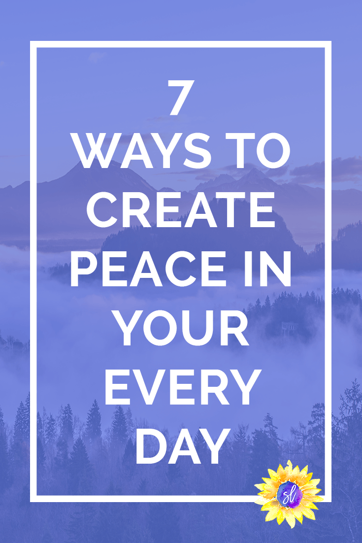 Do you struggle with finding and creating peace in your every day life? Take a look at these tips for 7 ways you can create a more peaceful life.  Save now and click through to read!