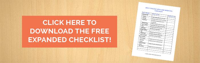 Best College Apps and Websites Checklist