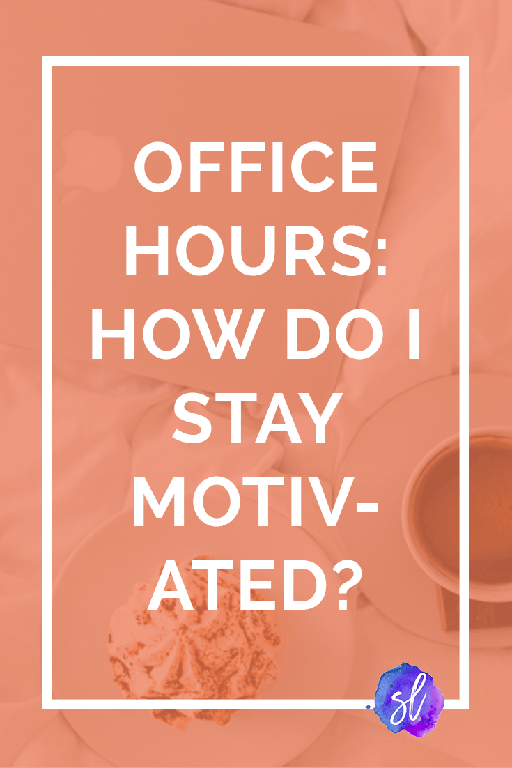 Sara Laughed's Office Hours! This week, Sara's answering questions about how to stay motivated, how much to study, how to build relationships, and how to stay away from perfectionism. Save this pin and click through to read!