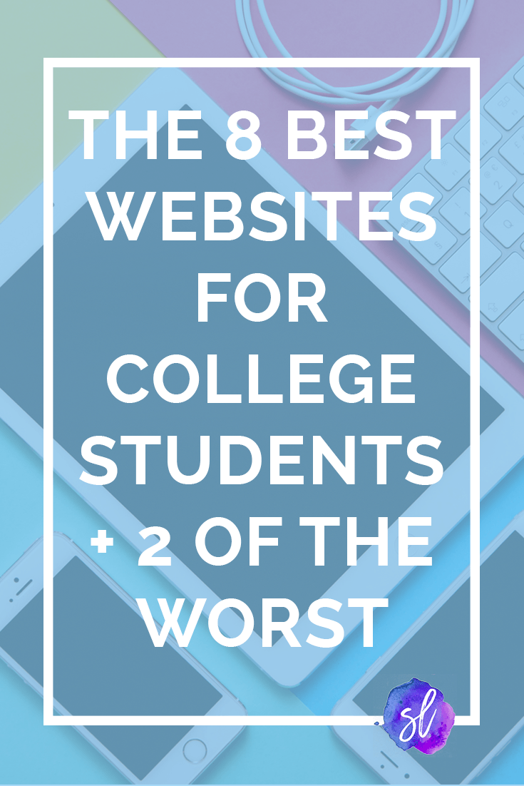 These 8 websites will make your college years SO much easier (and here's 2 you should avoid). Save this pin and click through to read the recommendations!