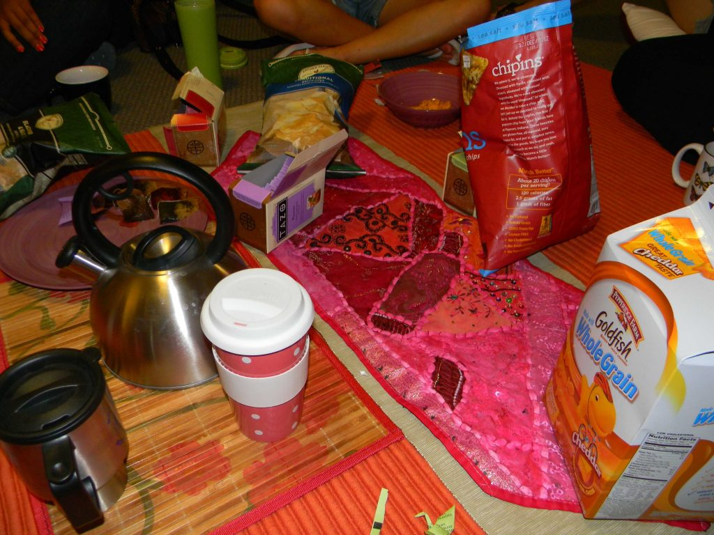 A picture from our midnight tea circle!