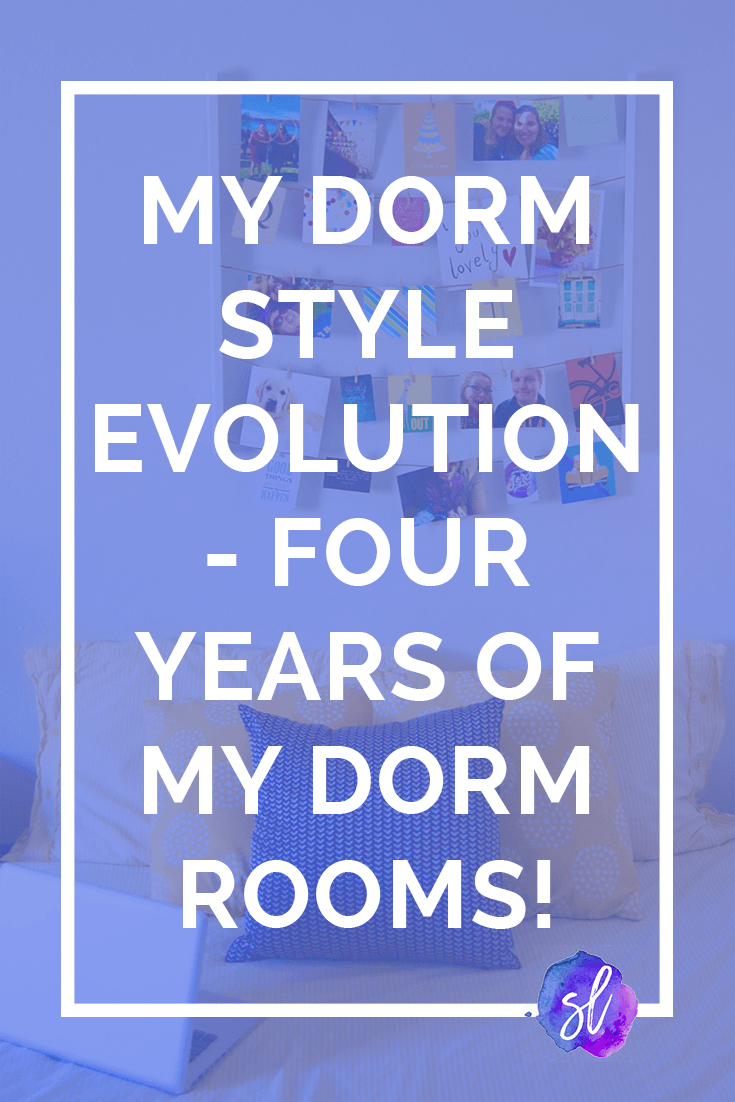 Want to see how my dorm style has changed in the last four years? Check out my dorm style evolution in this post! - Sara Laughed