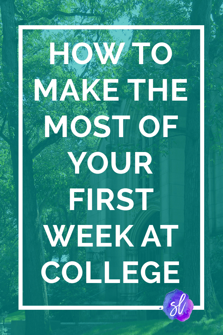 Are you looking forward to starting college? Here's how to make sure that you make the most out of those first few weeks, so you make memories and positive changes that last a lifetime! Save this pin and click through to read! Sara Laughed