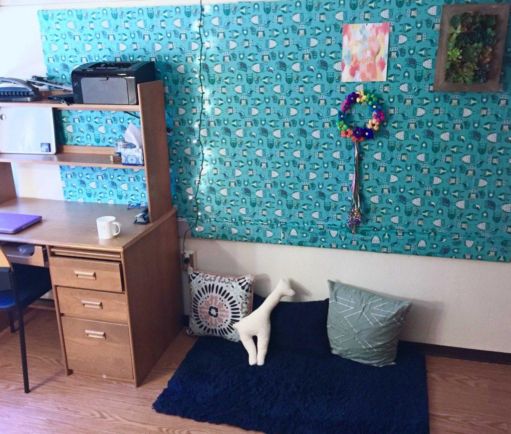 Sara Laughed's senior dorm room!