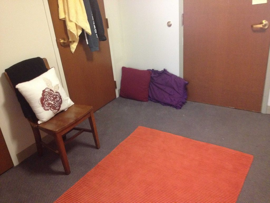 Sara Laughed's first-year dorm room!