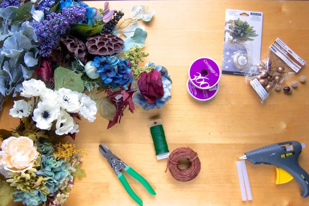 Flower crown diy how to make a flower crown sara laughed flower crown diy supplies izmirmasajfo