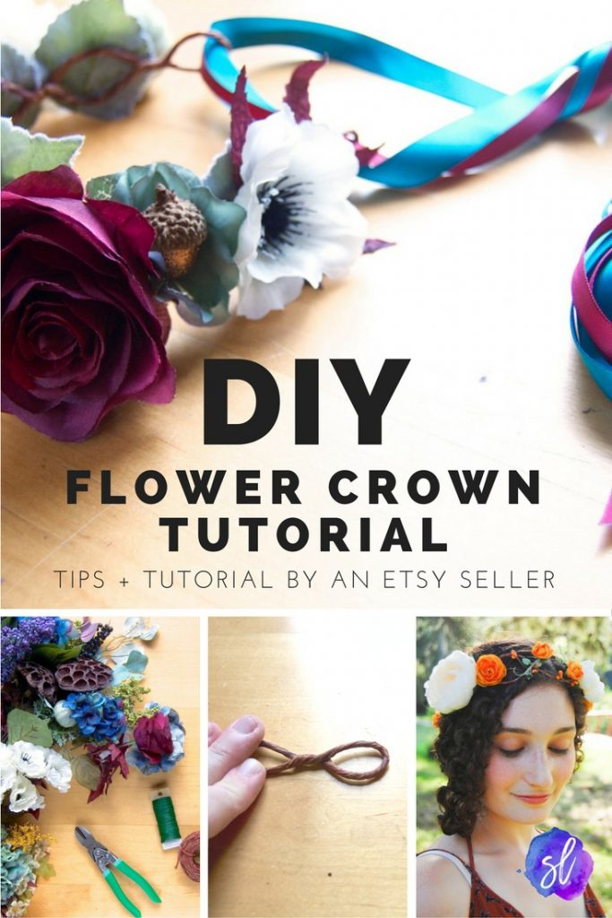 Flower crown diy how to make a flower crown sara laughed flower crown diy tutorial make your own beautiful flower crowns with tutorial and tips izmirmasajfo