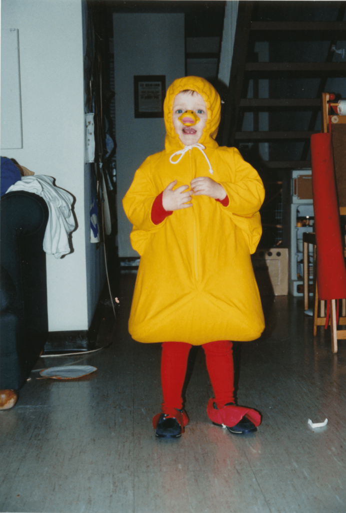 Age 4 DIY Duck & A History of My Unusual Halloween Costumes u2022 Sara Laughed