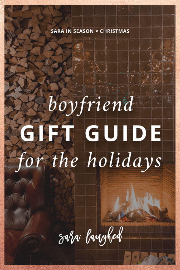Pin this boyfriend gift guide! Gift ideas for boyfriend for Christmas.