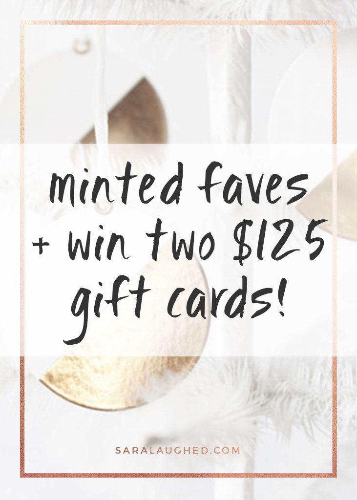 WIN $125 at Minted!! I love these favorites and I'm so excited to enter the giveaway!