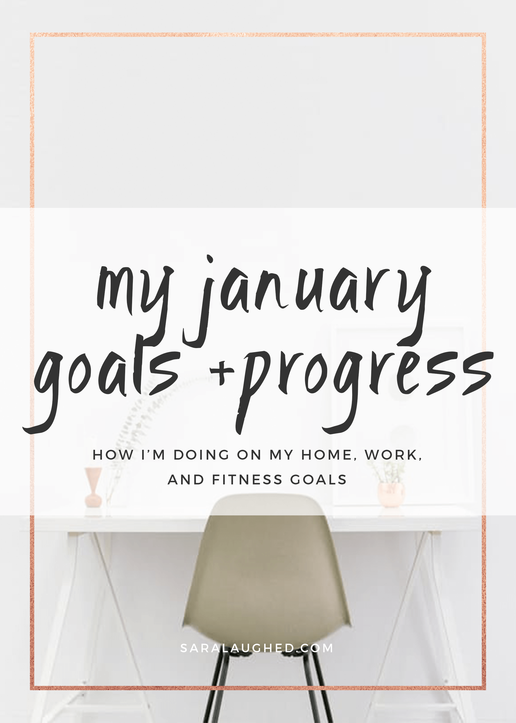 Check out my January goals and progress for 2017! Save for later and click to read more at saralaughed.com.