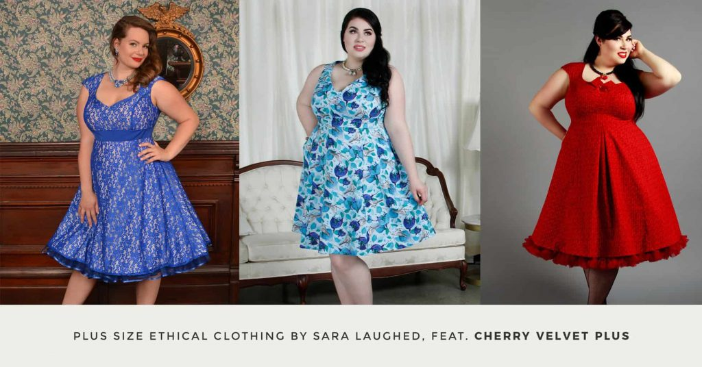 04. CHERRY VELVET PLUS - Plus Size Ethical Clothing - The Updated Ultimate