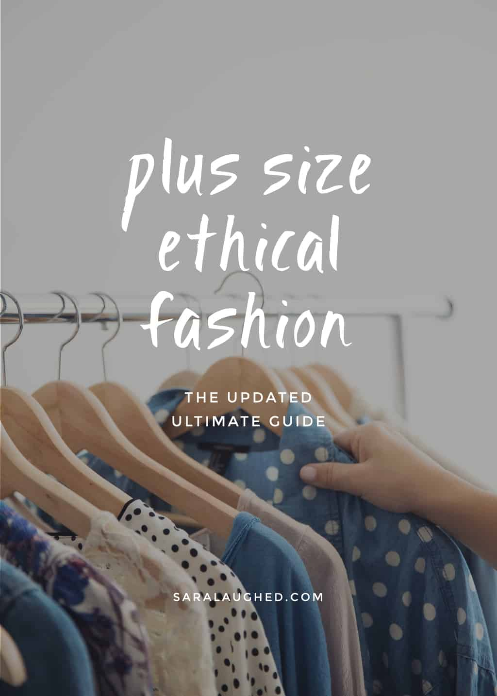 The updated, ultimate collection of 20+ plus size ethical clothing companies and collections! Pin for later and click through to read!