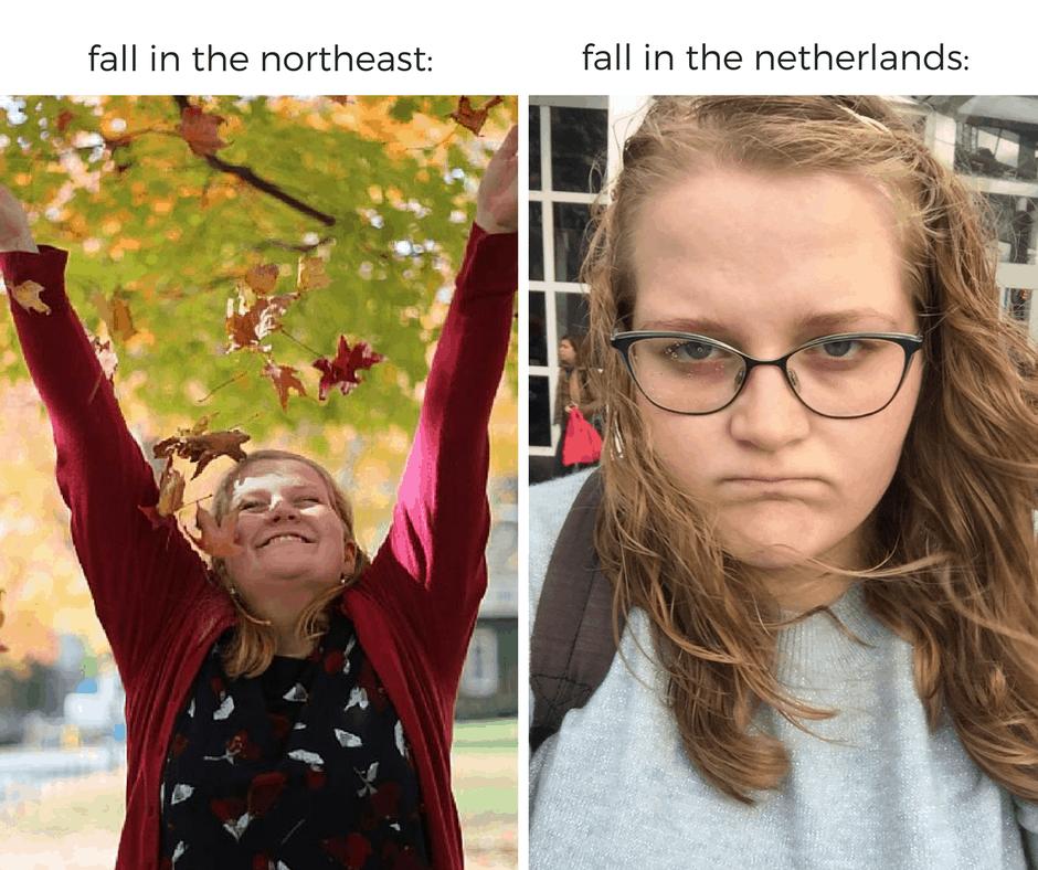 Dutch vs. American fall