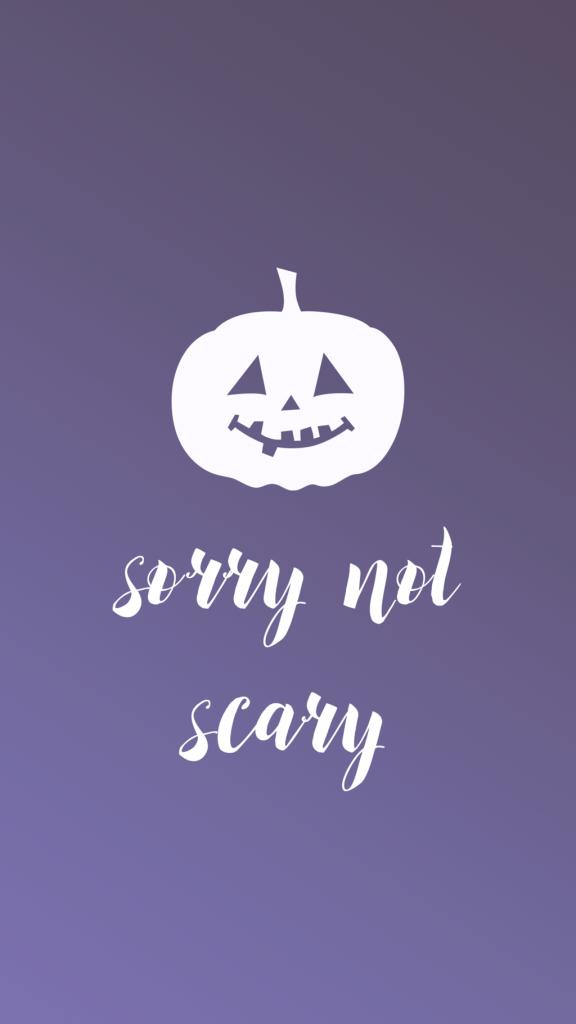 Halloween Phone Wallpaper - Sara Laughed - sorrynotscary