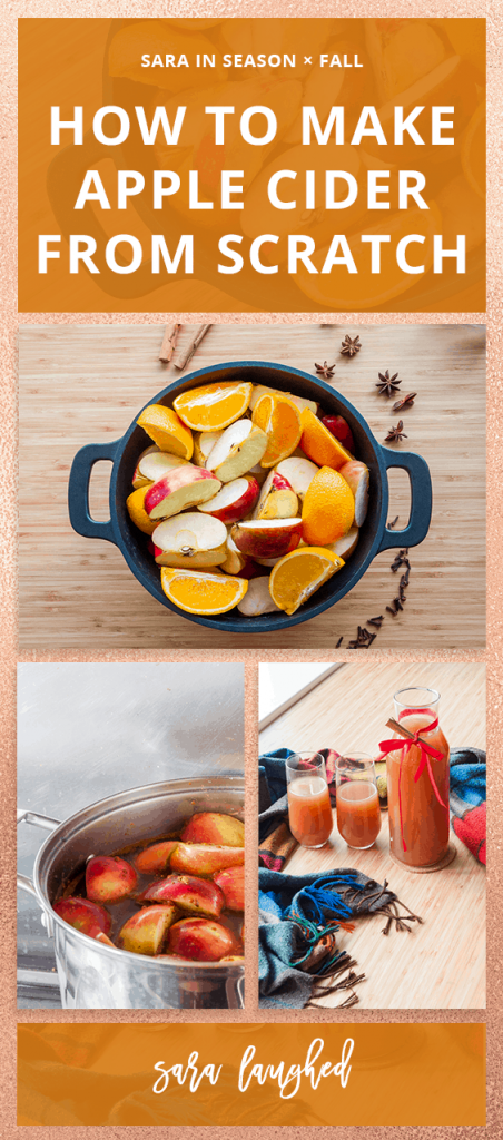 Pin this tutorial to make apple cider!