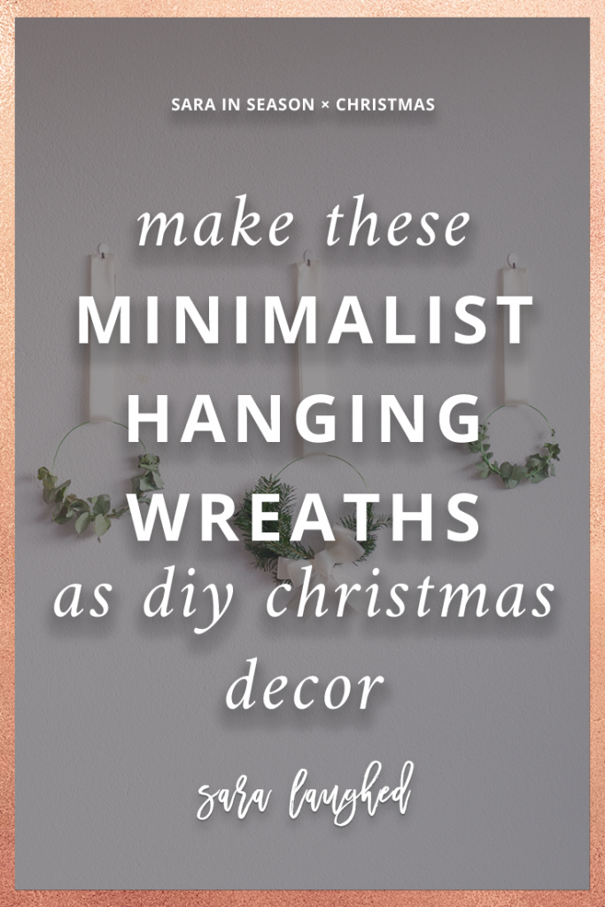 Make these Easy Minimalist Hanging Wreaths to Bring Some Extra Cheer to Your Holiday Space
