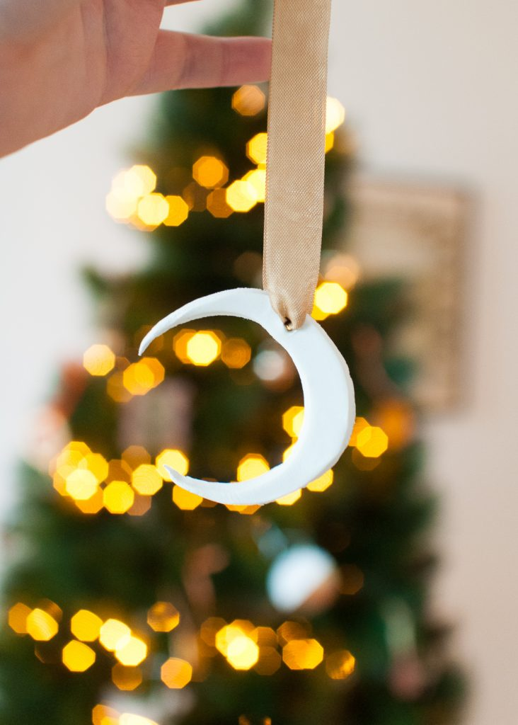 DIY These Clay Moon Ornaments to Make Your Tree Feel Magical