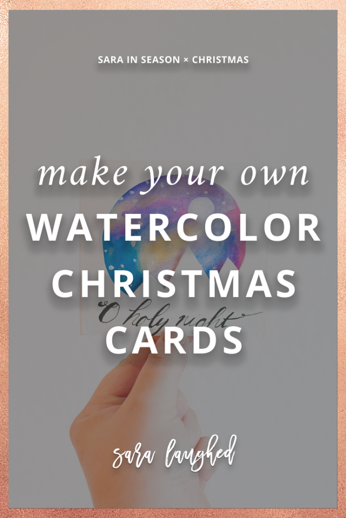 Make your own watercolor Christmas cards!