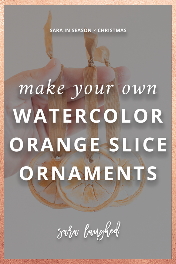 Try These DIY Watercolor Orange Slice Ornaments