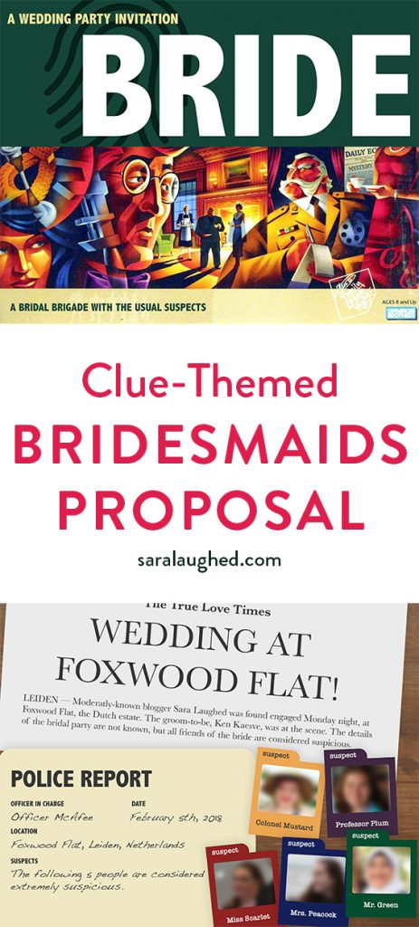 Clue-Themed Bridesmaids Proposal from Sara Laughed