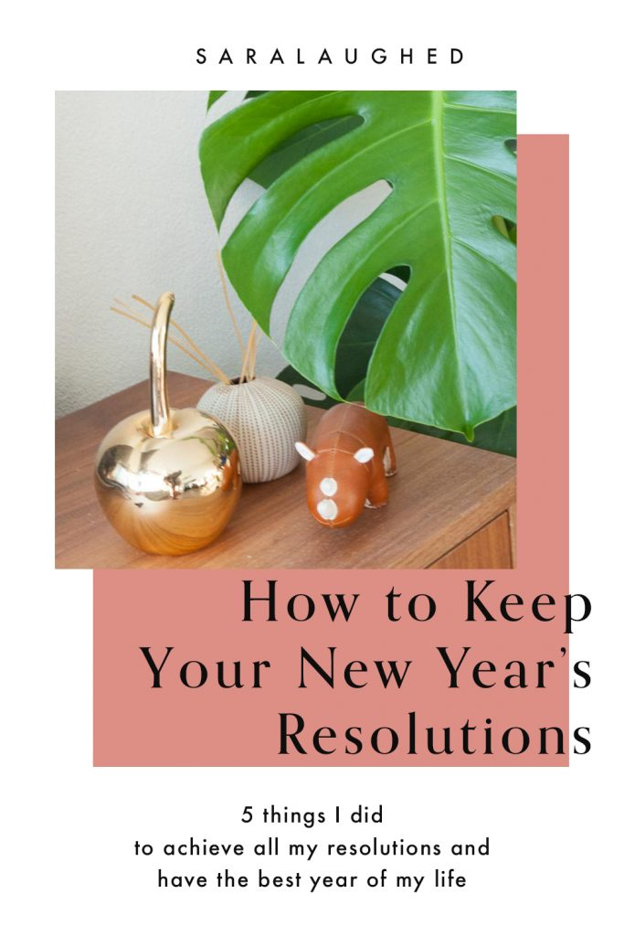 How to Keep New Year's Resolutions 1