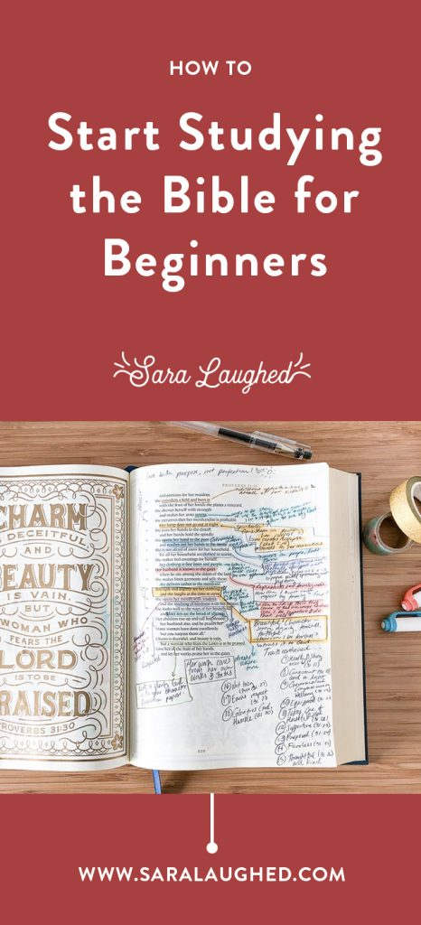 How to Start Studying the Bible — Sara Laughed