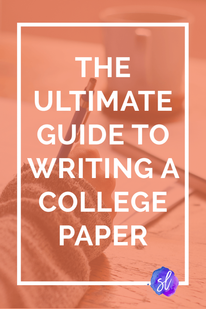 How to write a college