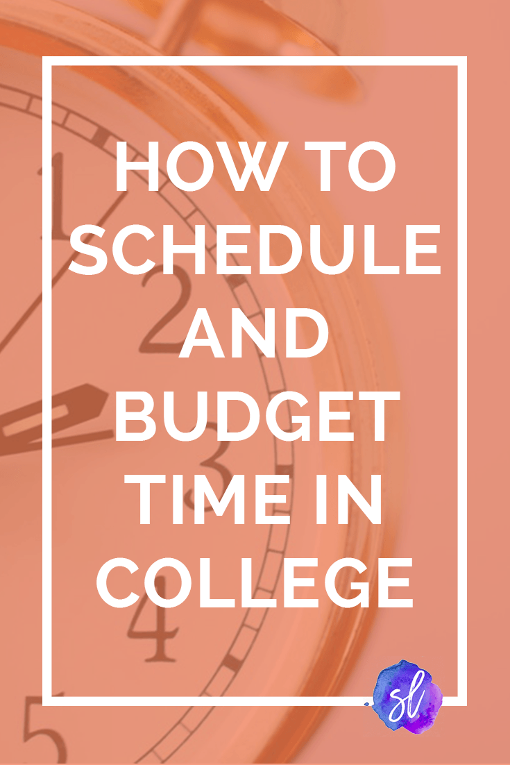 Learn how to budget your time in college in a few simple steps! Takes less than 10 minutes, and it'll change your life! College tips by Sara Laughed