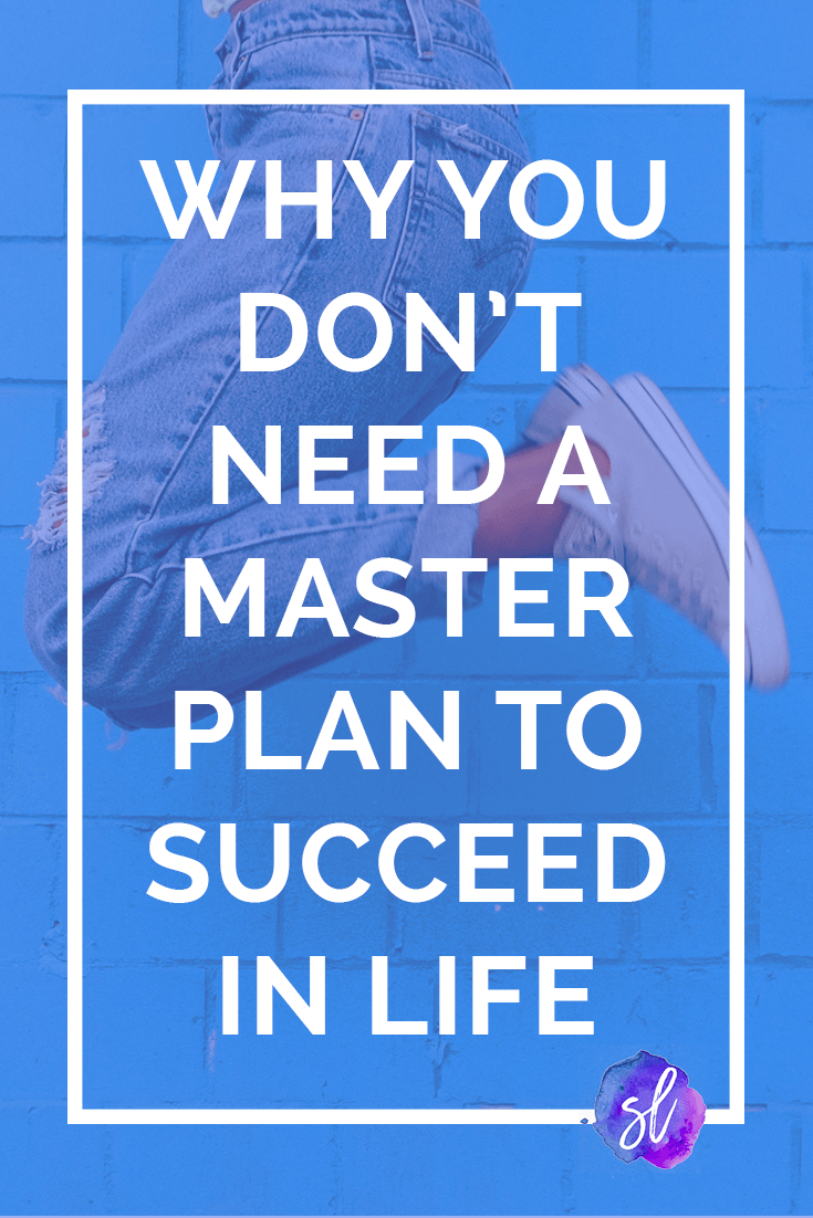 A college senior gives her reason for not needing a master plan. This really made me think.