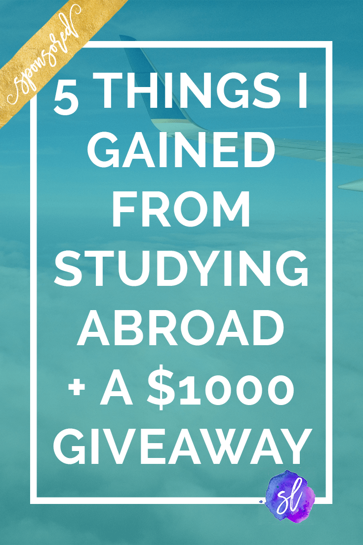Studying abroad completely changed my life - and now it can change yours too, thanks to this amazing $1,000 travel giveaway! Check out this post for 5 life-changing things I gained from my year abroad, plus rules for the giveaway!