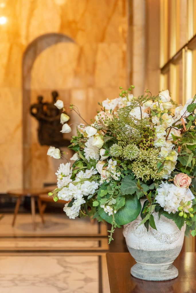 Flowers in the civil ceremony hall