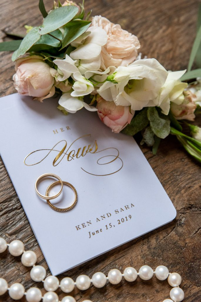 My vow book, blue with gold letters